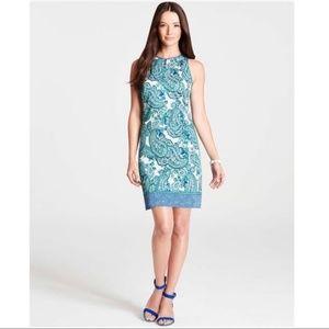 Ann Taylor Sleeveless Paisley Shift Dress